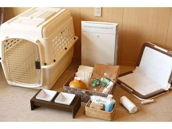 愛犬用備品をお部屋にご用意しております