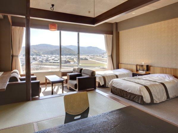 ★【和洋室】7.5畳+ツインベッド[37平米]<昼>