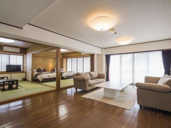 スタンダード客室でこの広さ!!人気の和洋室(63㎡)