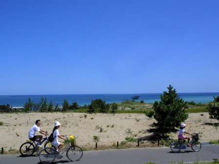 広い園内をサイクリング(ひたち海浜公園)