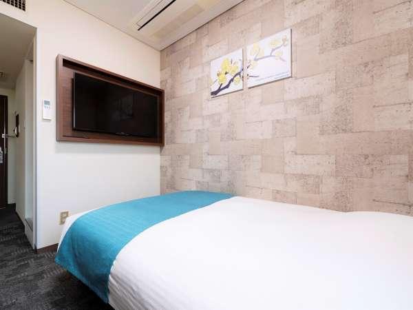 ※快眠がテーマの全米ホテルシェア1位:「サータ」の体圧分散型ポケットコイルマットレスを全室導入。