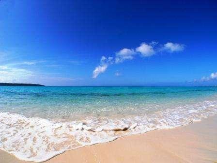 【周辺】前浜ビーチは冬でも天気がよければこの青さ!!