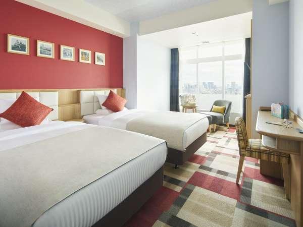 ファミリールーム/ベッド幅:110cm×2台、105cm(2段ベッド)×1台