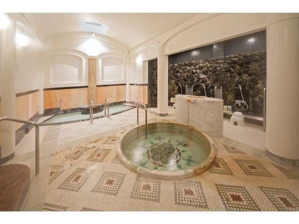 大正風呂の源泉掛け流しの温泉は、女性に大変ご好評となっております。