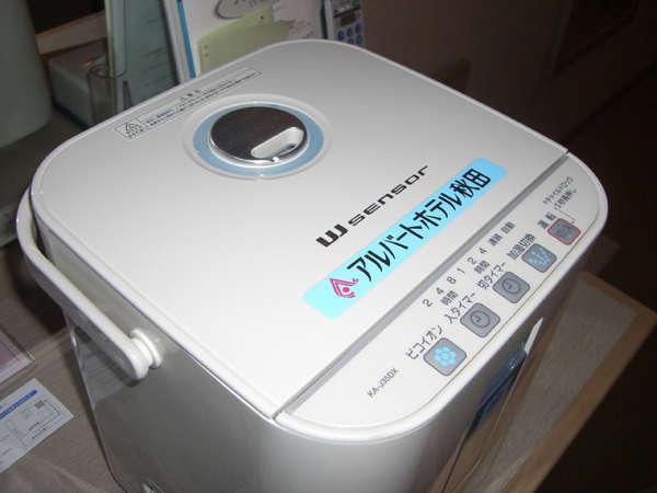 加湿器は全客室に設置されております。