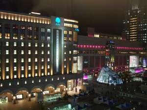 【7Fのロビーからの眺望~JR札幌駅】