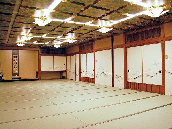 和室宴会場「花宴」40畳 洋室で会議、和室で宴会という流れが好評