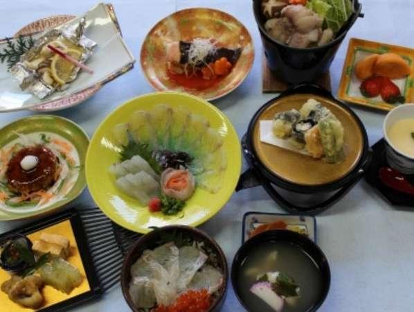 『ヒラメ・あんこう鍋祭り』料理例