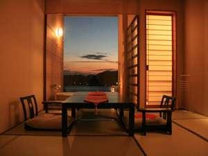 ◆全室、専用露天風呂付き◆お風呂へ入りながら弓ヶ浜が一望!