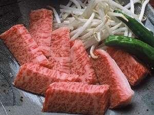 好評を頂いている飛騨牛ステーキ(一例)