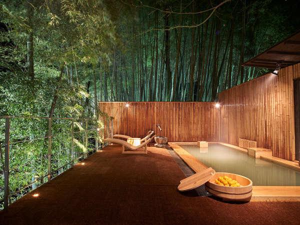 【白川源泉 竹ふえ】竹林に抱かれた約五千坪の敷地に12室の離れが点在する、静護の宿
