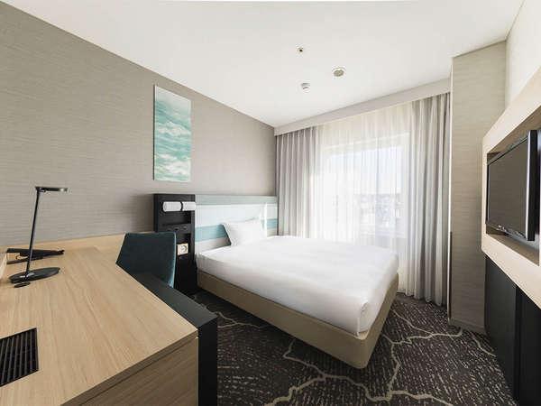 【客室】デラックスシングル・部屋の広さ19㎡・宿泊人数1~2名・ベッド幅140㎝