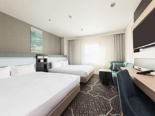 【客室】デラックスツイン・部屋広さ…21㎡・宿泊人数…1~4名・ベッド幅…140cm