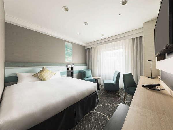 【客室】ダブルA・部屋広さ…19㎡・宿泊人数…1~3名・ベッド幅…160cm