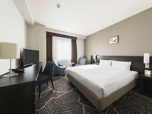 【客室】ダブルB・部屋広さ…19㎡・宿泊人数…1~2名・ベッド幅…160cm