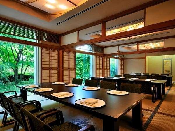 【日本料理 四季】お座敷は新緑が美しい趣ある和空間。046-235-9816
