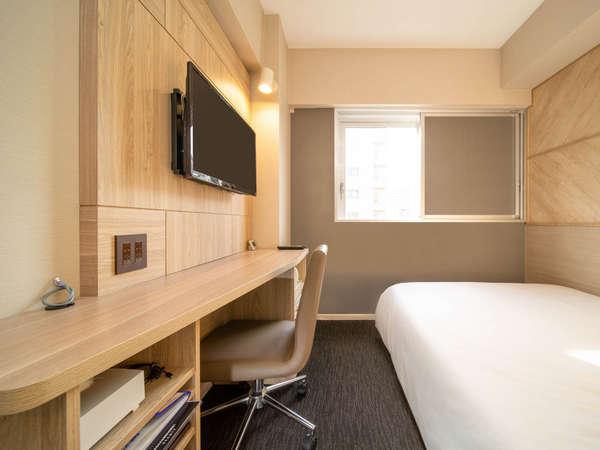 【スタンダードルーム】ダブルサイズベッドで眠りを追及し適度な硬さのマットでぐっすり♪