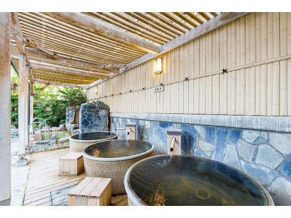 一人で入る壺風呂もあります!