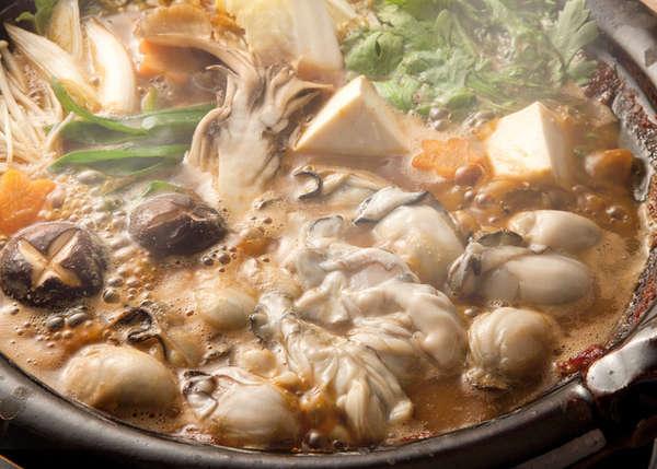 牡蠣と豚肉の鍋