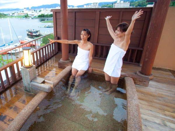 ※展望貸切露天風呂。絶景を楽しみながらリラックス♪