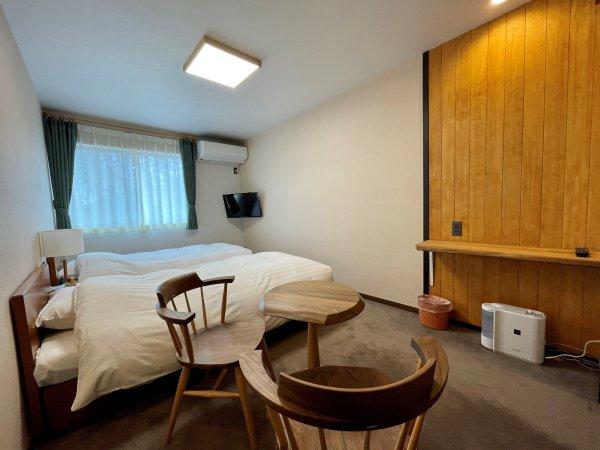リニューアルした洋室ツインルームの一例