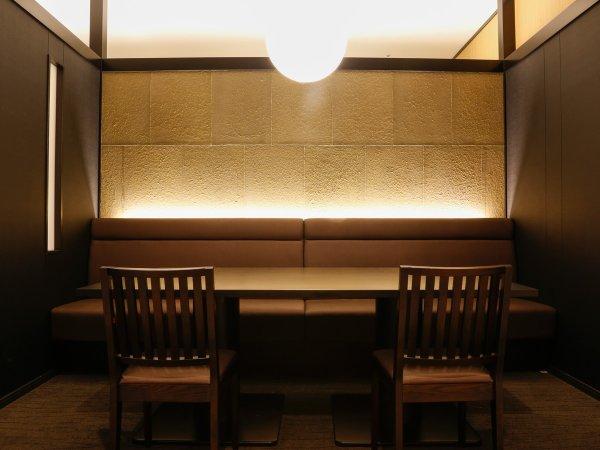 ~半個室食事処『NAGOMI』~ 間接照明で包む優しい光は、身も心もやすらげます。