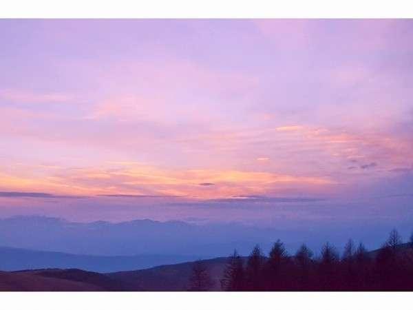 夕暮れにみせてくれる空の色に感激!