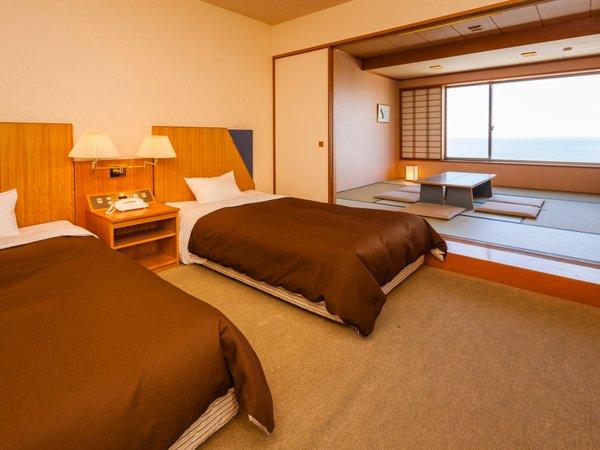 ★和洋室ツイン・海側★ホテル飛鳥で一番人気の客室◇48平米~