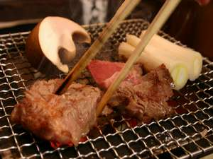 能登牛網焼き【食事一例】