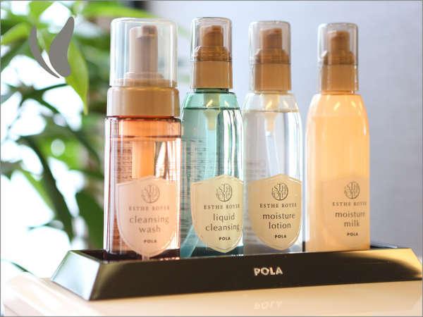 女性大浴場☆POLAのアメニティ☆・クレンジング・洗顔・化粧水・乳液