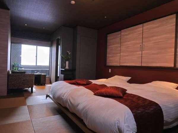 【Aタイプ】紅霞-kouka-紅色に霞む夕日をイメージした半露天風呂付客室