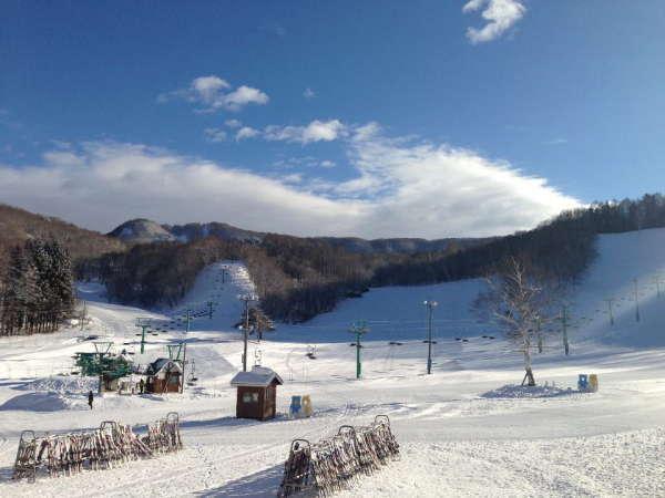 ◆【藤原スキー場】ホテル目の前のプライベートゲレンデ◆