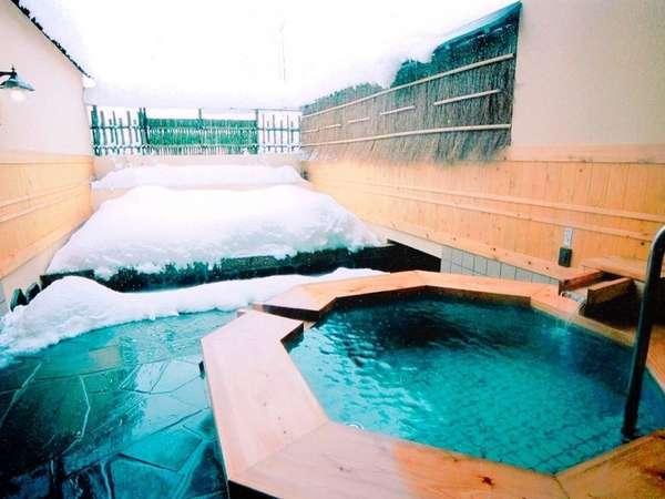 ◆【冬:11種類の貸切露天風呂】翠どころの湯(檜好きにオススメ!)◆
