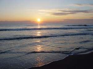 九十九里、白子海岸の日の出、宿から徒歩5分