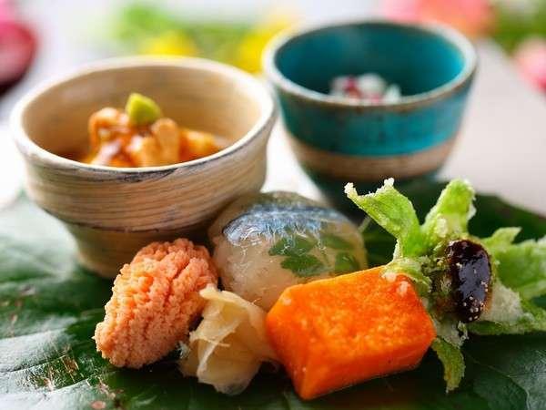 【夕食】春会席前菜