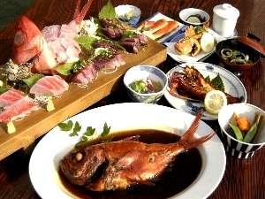 地魚海鮮盛り♪金目鯛姿煮プラン 特別料理:伊勢海老鬼殻焼