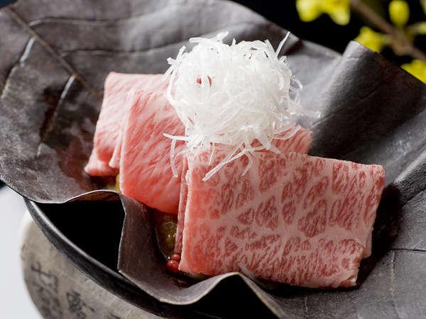 【飛騨牛料理】とろける飛騨牛の朴葉味噌焼(一例)