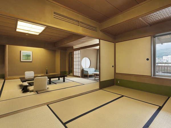 【臨川閣 和室一例】次の間付和室 ゆったりとお過ごしいただけます。