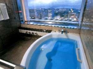 Exclusive Floor『BLANC』シティービューツイン 浴室からの眺め