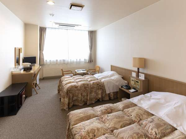 【洋室】(ベッド2台・ユニットバス付)