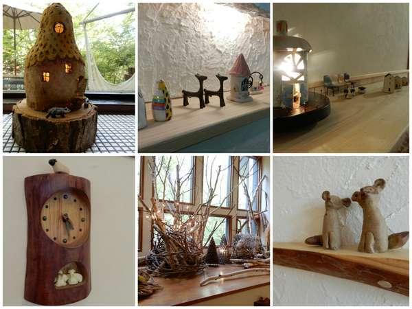 館内には作家さんや家主の作った置物がたくさん飾ってあります。いろいろ探してみてください。