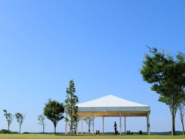 てふてふの丘にたつヨガテラス ※春夏は朝のヨガプログラムを開催