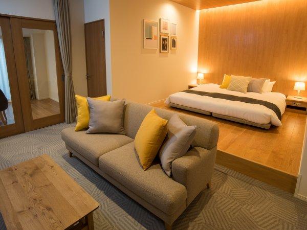 【新館】ラグジュアリー・ダブルルーム【55㎡】キングサイズベッド、ジェットバスなど備えたお部屋です。
