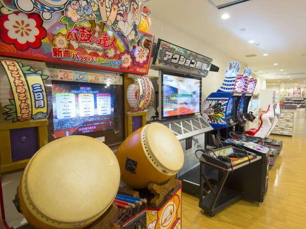 【スパ&アミューズメント・ゾーン】ゲームコーナー/各種ゲーム機♪皆さまでお楽しみください!