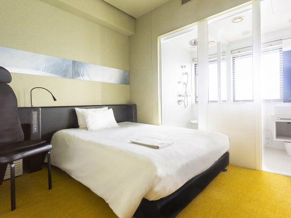 【シングル】一例 シャワーブースあり、バスタブなし・ベッド 130-140cm×195cm×1台