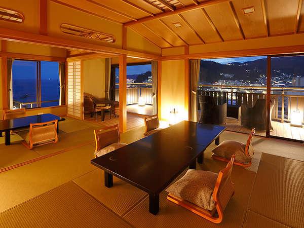 夜には熱海の夜景をご堪能ください【月世界】二間客室
