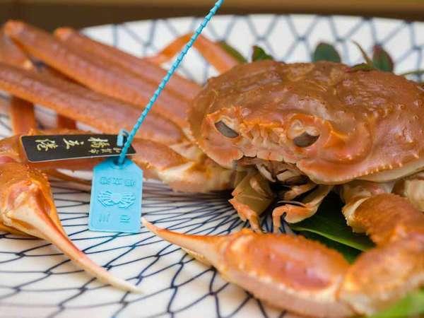 *お夕食一例/冬の味覚王!石川県産タグ付き加能ガニをお二人で一杯ご堪能下さい。