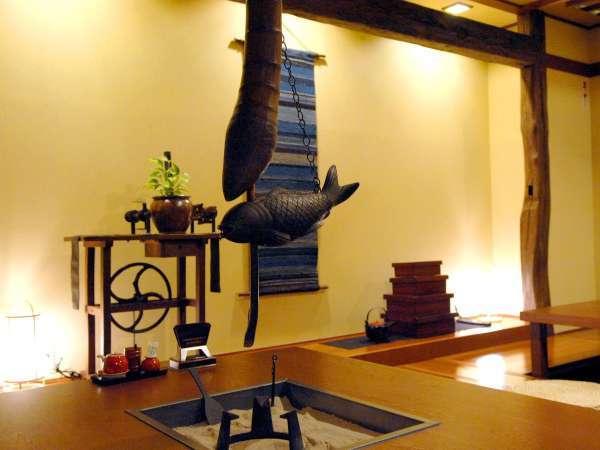 ■お食事処「唐花草」掘りごたつ席の一例(テーブル席もございます)