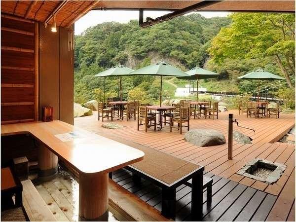 姉妹館「ホテルサンシャイン鬼怒川」の足湯カフェ ※不定休