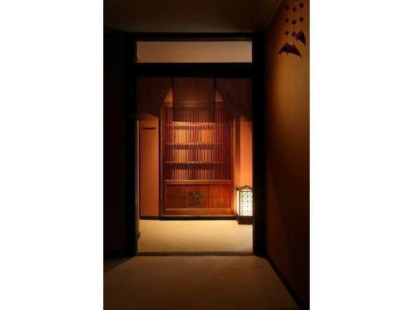 【しつらえ】4階お食事部屋入口